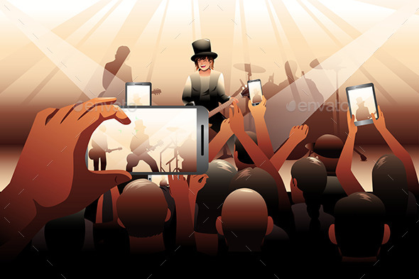 GraphicRiver People in Concert Scene 9471209