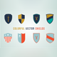 8 Colorful Vector Shields - GraphicRiver Item for Sale
