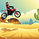Motorcross Rider in the Desert - GraphicRiver Item for Sale
