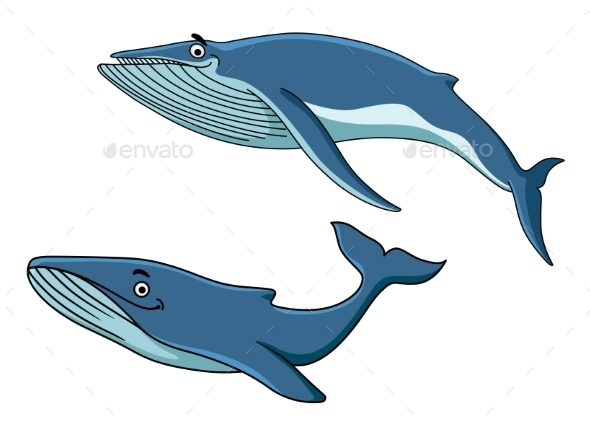 GraphicRiver Blue Whales Swimming Underwater 9471414