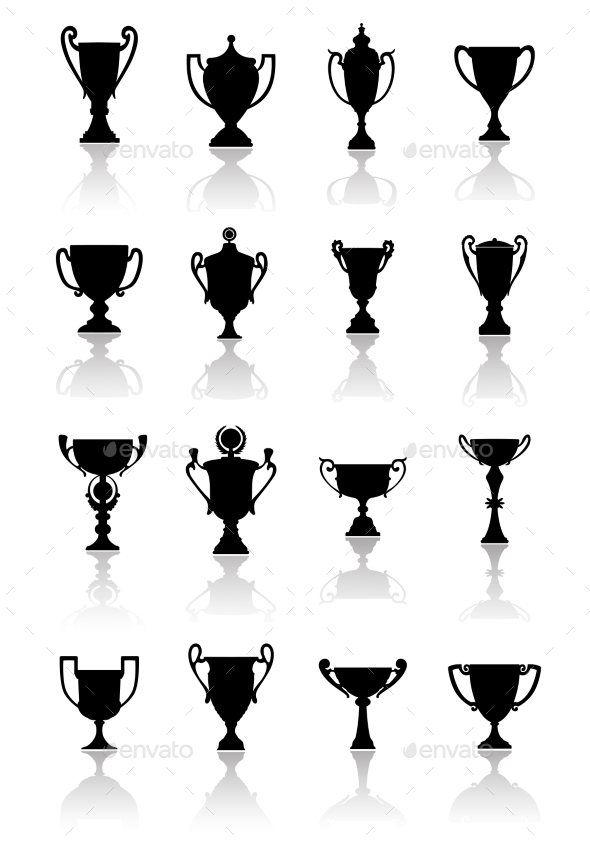 GraphicRiver Trophy Cups Set 9471430