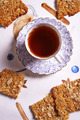 oatflakes biscuits and cup of tea - PhotoDune Item for Sale