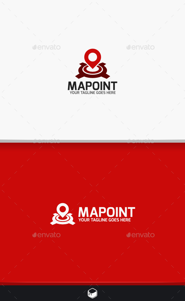 GraphicRiver Map Point Logo 9471485