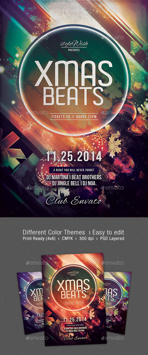 GraphicRiver Xmas Beats Flyer 9471660