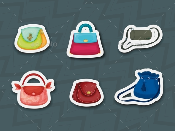 GraphicRiver Handbag Stickers 9471682