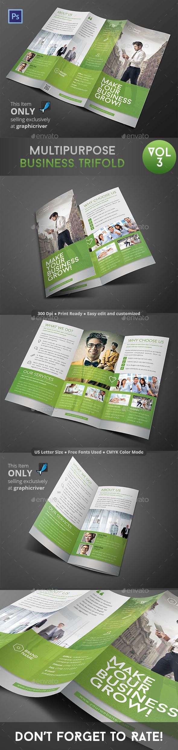 GraphicRiver Multipurpose Business Trifold Vol 3 9471754