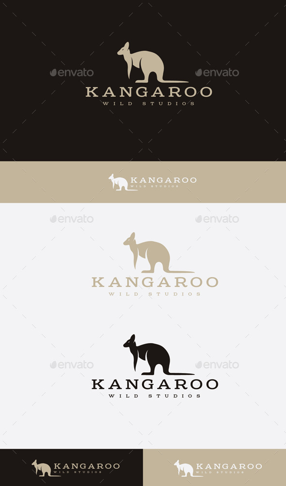 GraphicRiver kangaroo Team Logo 9472141