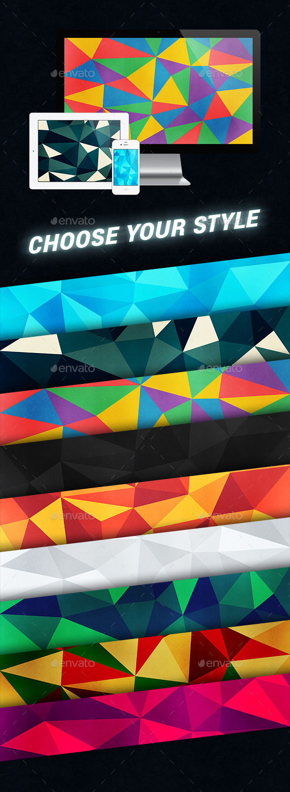 GraphicRiver 10 Colorful Polygon Backgrounds 9472148