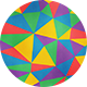 10 Colorful Polygon Backgrounds - GraphicRiver Item for Sale