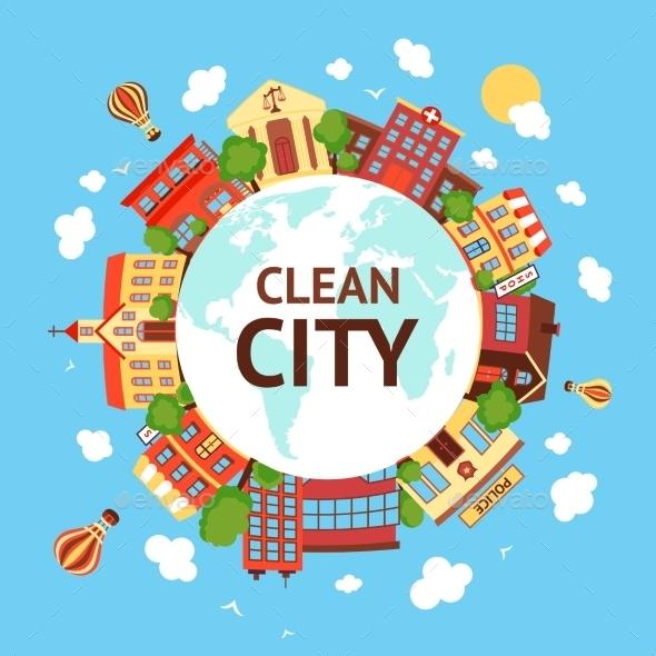 GraphicRiver Clean Cityscape Background 9472294
