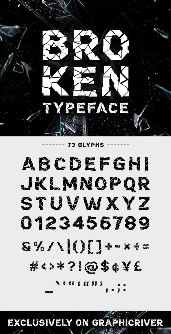 GraphicRiver Broken Font 9472315