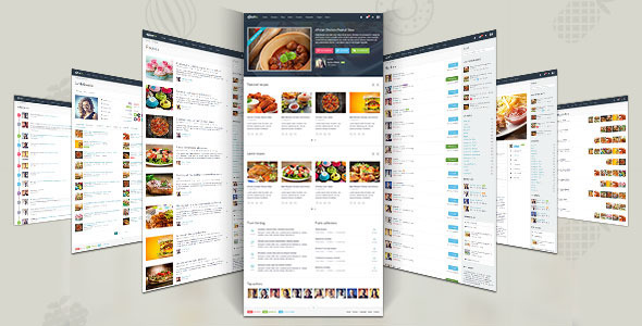 ThemeForest Gustos The complete UI for a recipe website 9423621