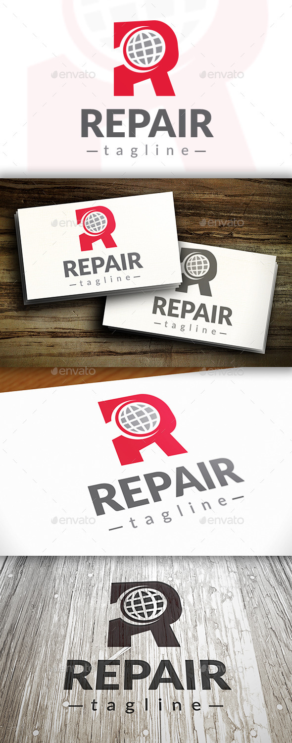 GraphicRiver Repair World Logo 9472347