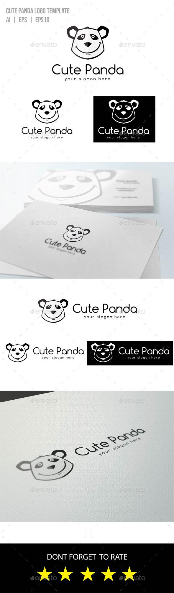 GraphicRiver Cute Panda Logo 9472350