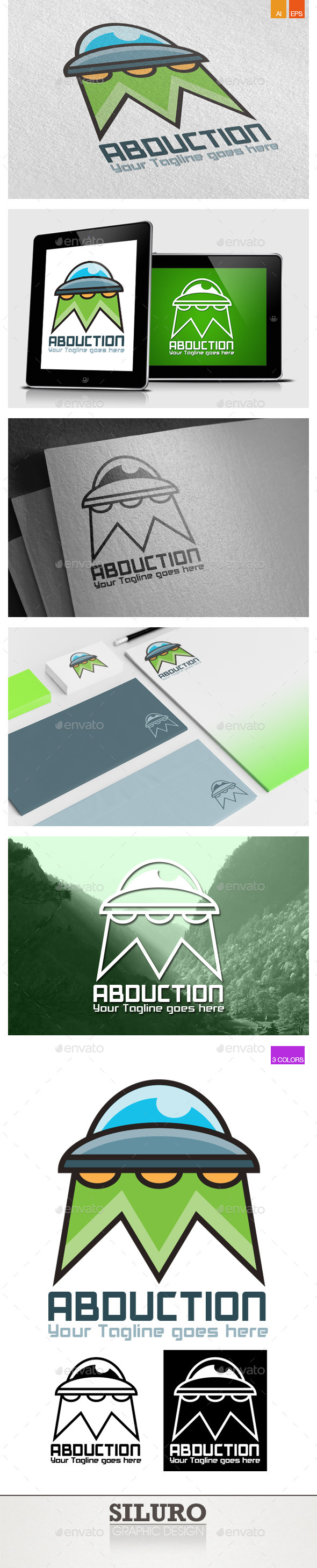 GraphicRiver Abduction Logo 9440294