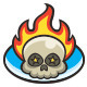 Flame Skull Logo - GraphicRiver Item for Sale