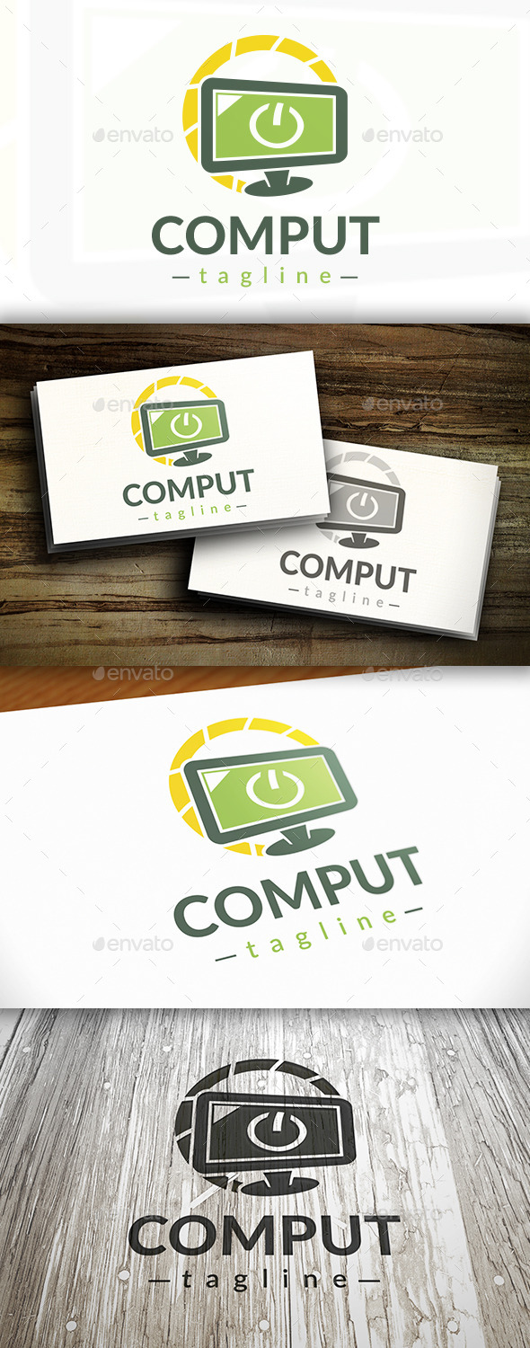 GraphicRiver Computer Power Logo 9472368