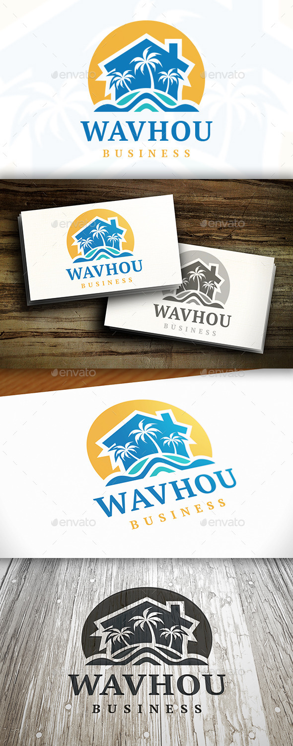 GraphicRiver Beach Resort Logo Template 9472382