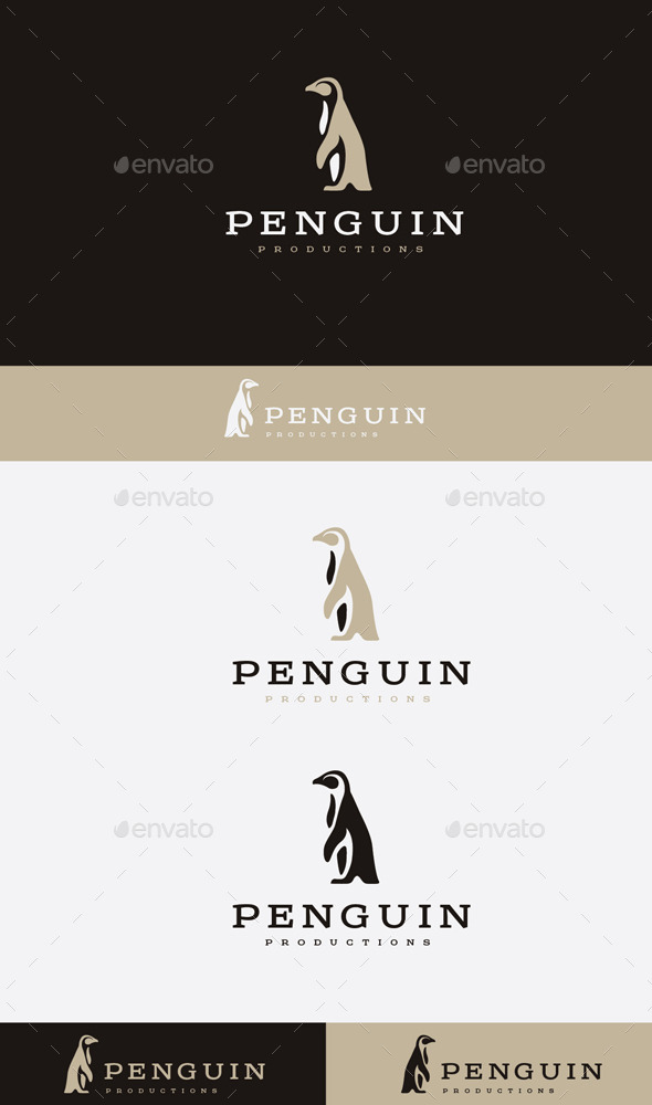 GraphicRiver penguin team Logo 9472421