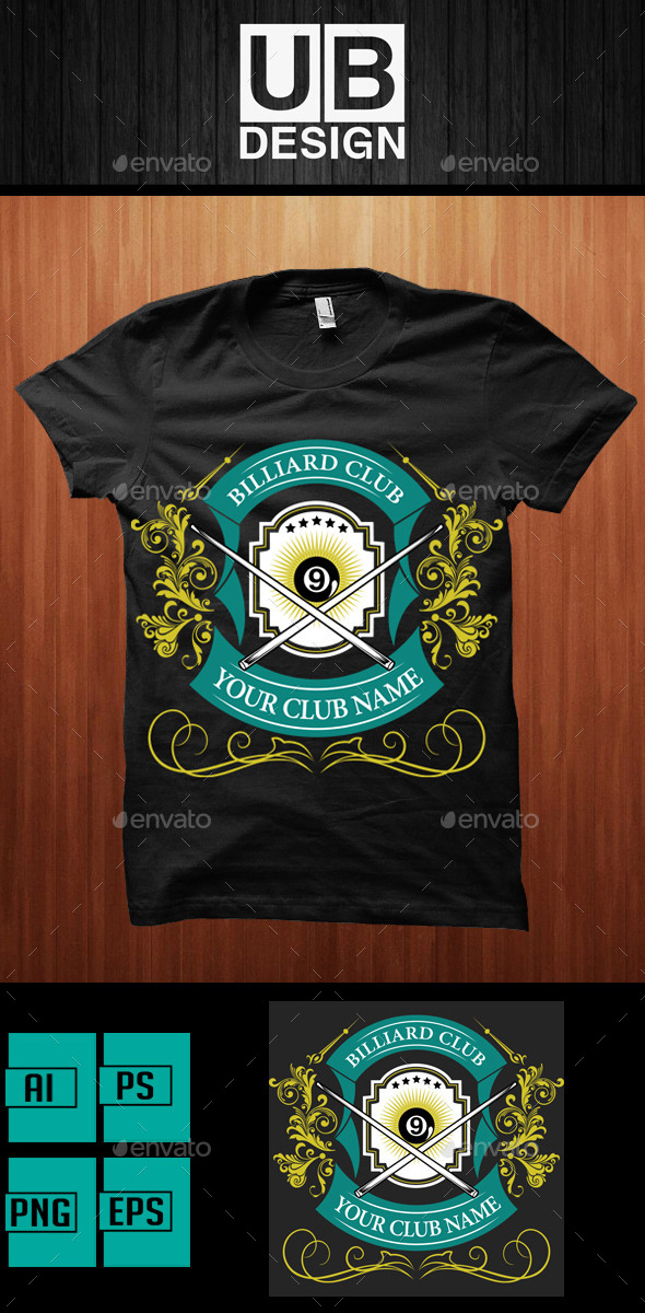 GraphicRiver Shirt Design for Biliard Club 9472432