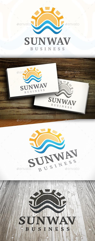 GraphicRiver Sun Wave Logo 9472433