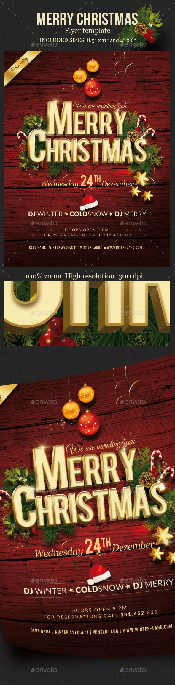 GraphicRiver Christmas Party Flyer 9472444