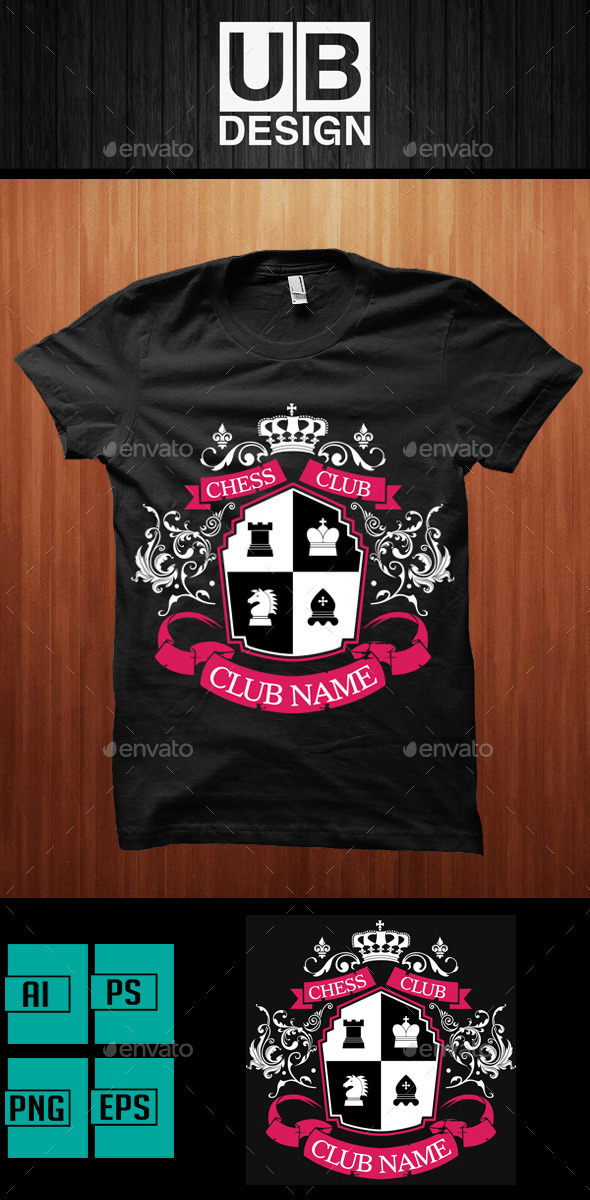 GraphicRiver Academic Shirt Design for Chess Club 9472495