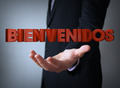 welcome in spanish over businessman - PhotoDune Item for Sale