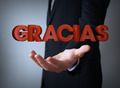 thanks in spanish over businessman - PhotoDune Item for Sale