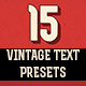 15 Vintage Retro Text Presets - VideoHive Item for Sale