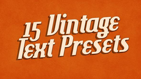 15 Vintage Retro Text Presets