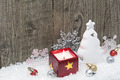 Christmas decoration on weathered wood background - PhotoDune Item for Sale