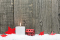 Christmas candle and red stars - PhotoDune Item for Sale