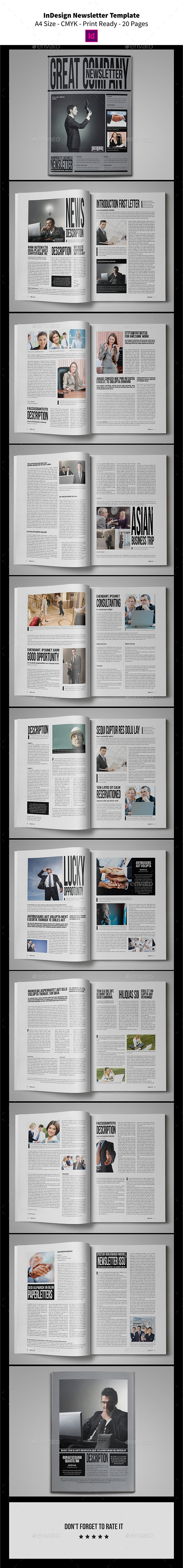 GraphicRiver InDesign Newsletter Template 20 Pages 9472601