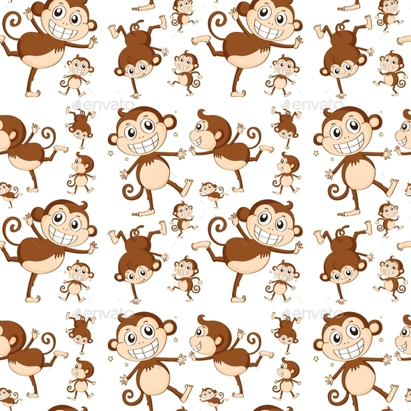 GraphicRiver Seamless Monkey 9472726