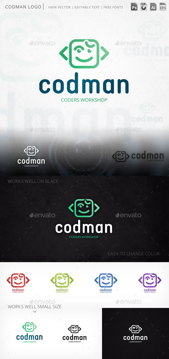Codman Smiley Face Logo Template