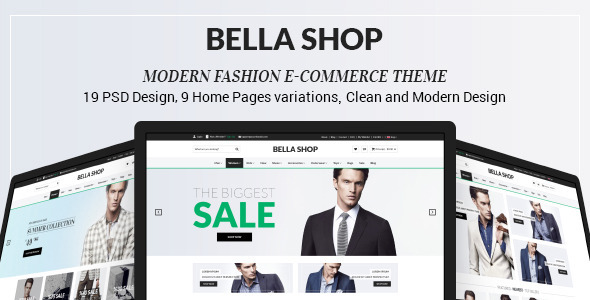 Bella Shop – is a clean, fashion and modern theme for your online shop! User friendly and simple for customers. This PSD theme is perfect for eCommerce pr