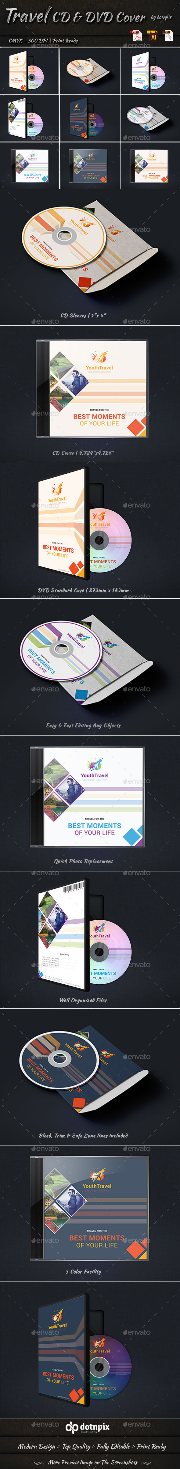 GraphicRiver Travel CD & DVD Cover 9234543