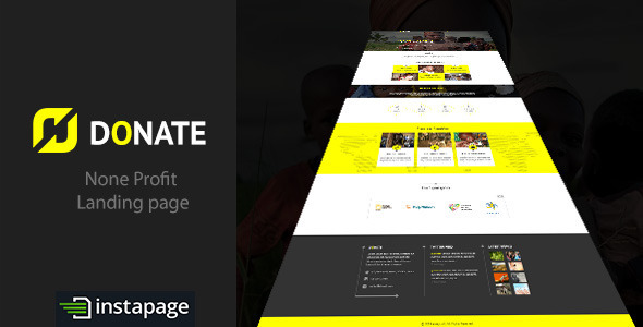 ThemeForest Donate None Profit Instapage Landing Page 9340690