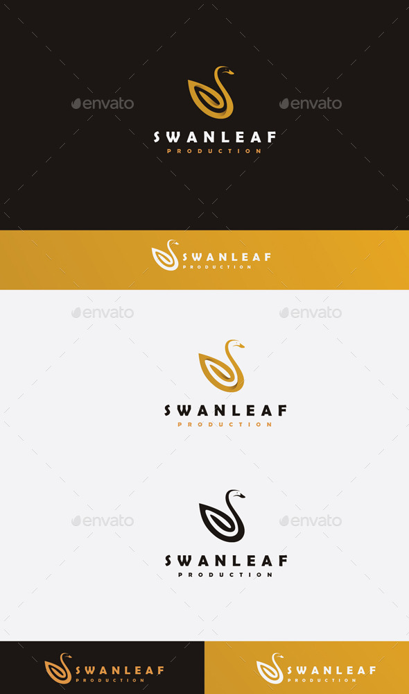 GraphicRiver Swan Leaf Logo 9472801