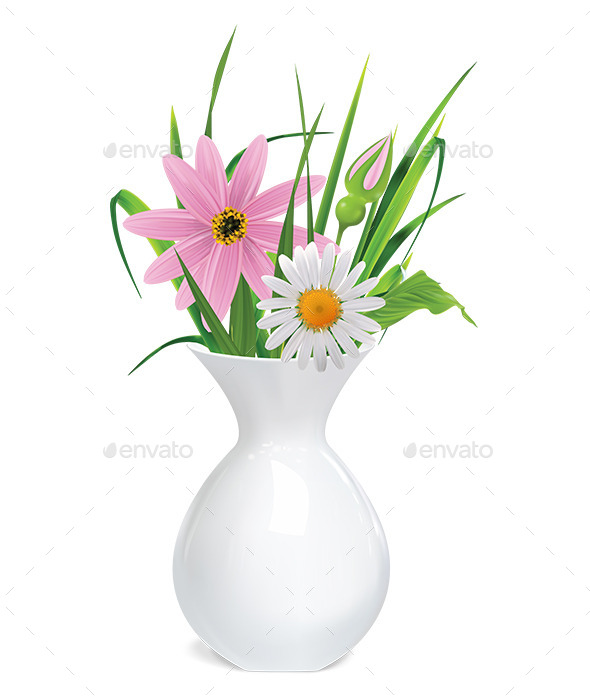 GraphicRiver Vase with Flowers 9472983