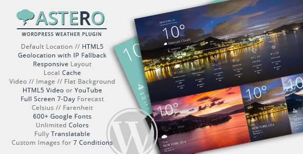 CodeCanyon Astero WordPress Weather Plugin 9473087