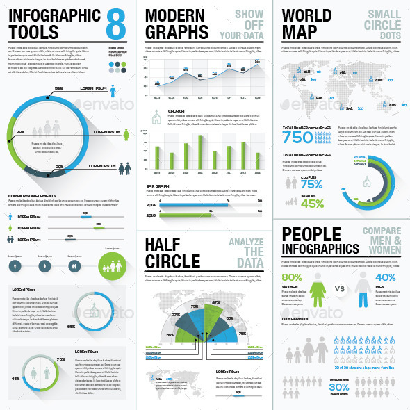GraphicRiver Infographic Tools 8 Business Elements Recolored 9473108