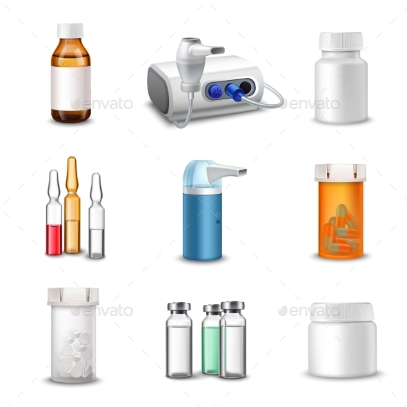GraphicRiver Medical Bottles 9473227