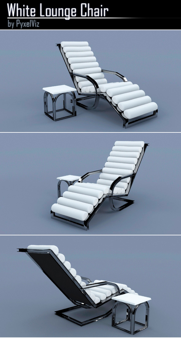 3DOcean White Lounge Chair 9473337