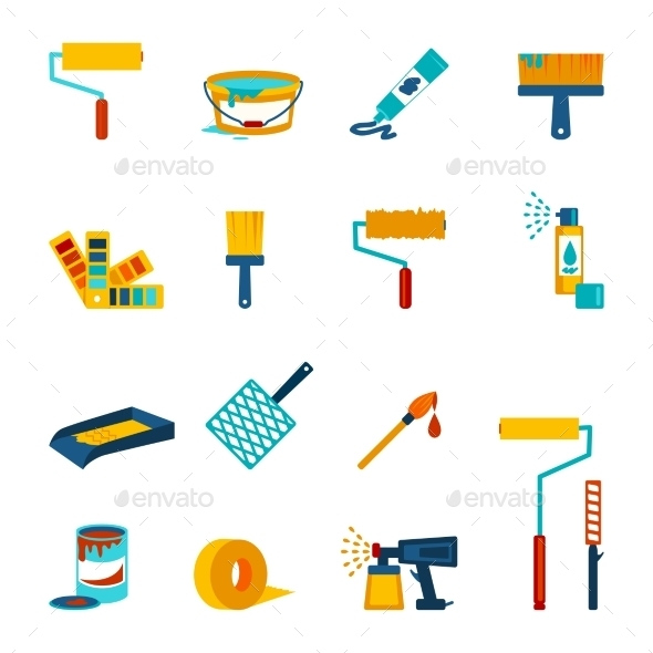 GraphicRiver Painting Icons 9473357