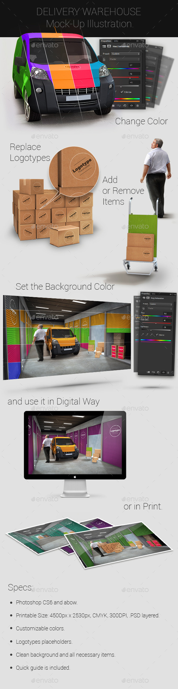 GraphicRiver Delivery Warehouse Mock-Up 9430869