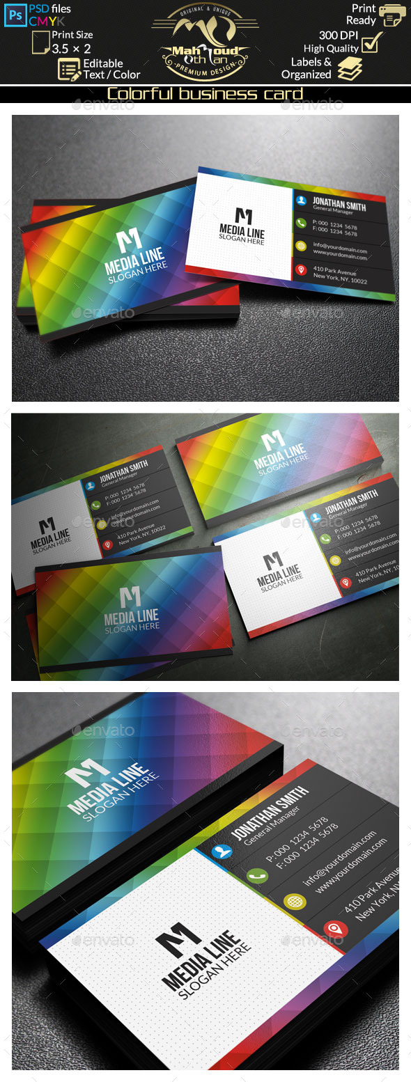 GraphicRiver Colorful Business Card 9473618