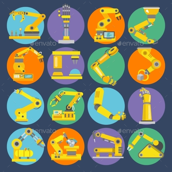 GraphicRiver Robotic Arm Icons 9473651