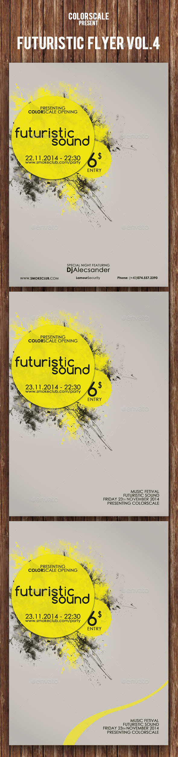 GraphicRiver Futuristic Flyer Vol.3 9473665